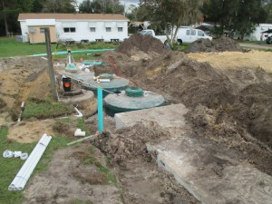 Sewage in Yard in Summerfield, Florida